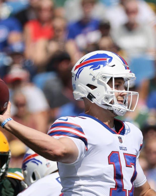 Buffalo Bills QB Josh Allen could improve on his 2020 season.