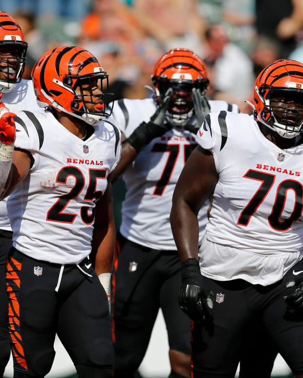 Cincinnati Bengals Chris Evans, D'Ante Smith, Fred Johnson, Isaiah Prince