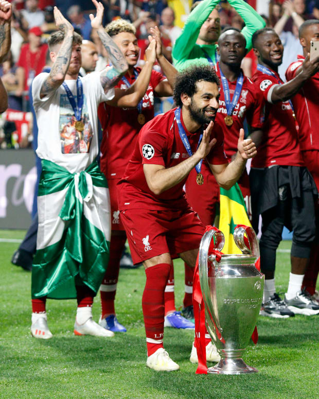 Mohamed Salah Champions League Trophy