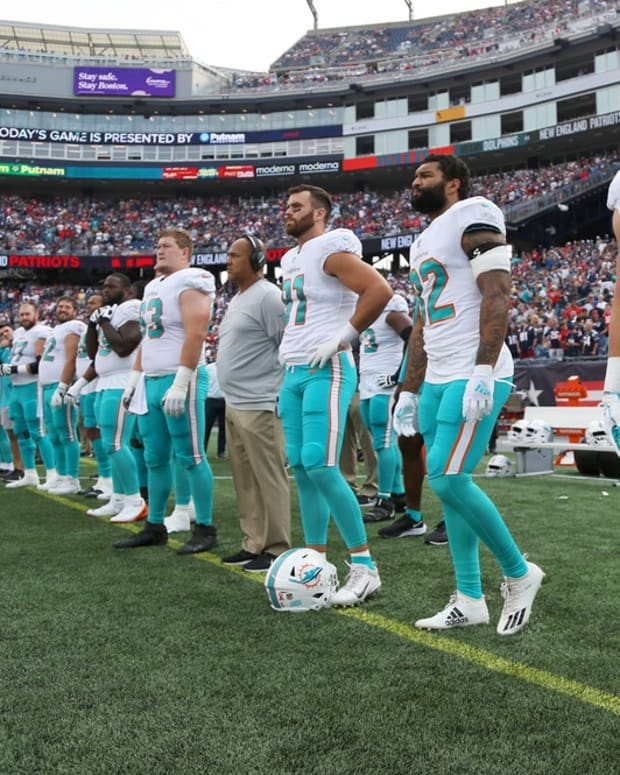 Dolphins at New England