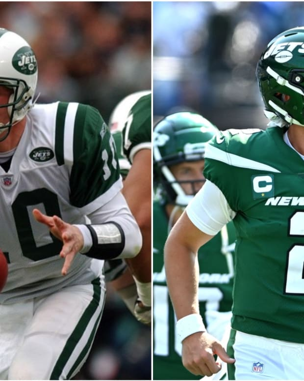 Jets QBs Chad Pennington, Zach Wilson