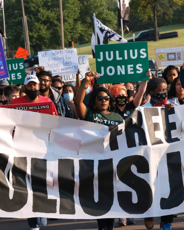 March and rally in support Julius Jones during the commutation hearing Monday, September 13, 2021. PHOTO FOR JUMP