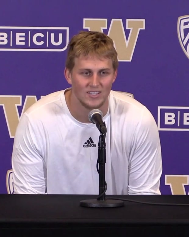 Cooper McDonald meets with the media for the first time.
