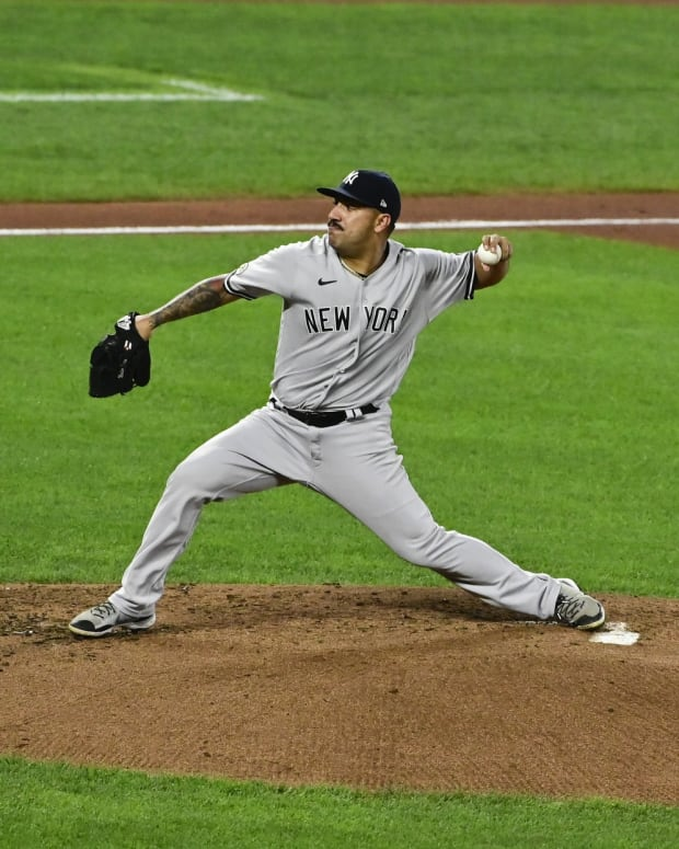 Yankees SP Nestor Cortes pitching in Baltimore