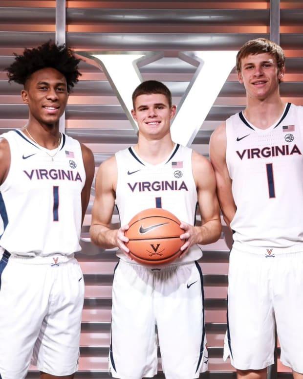 Leon Bond, Isaac McKneely, Isaac Traudt, Virginia Cavaliers men's basketball