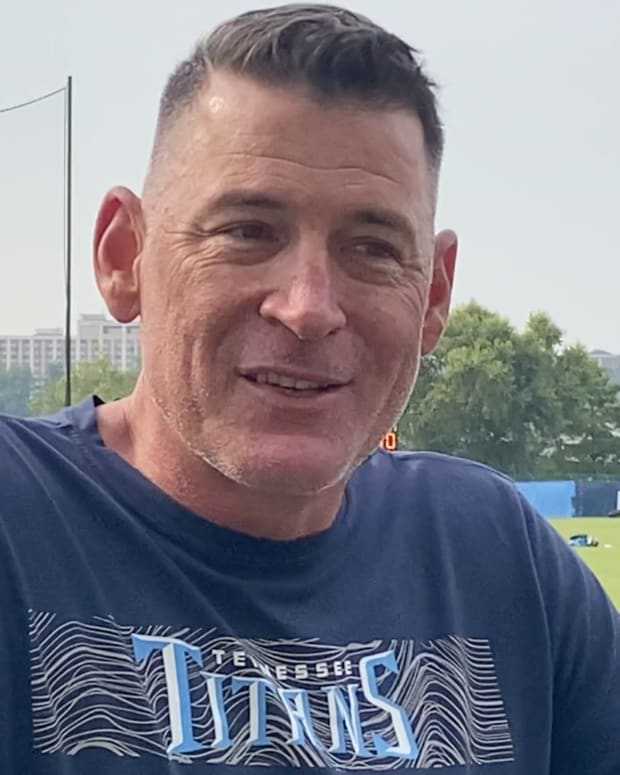 Tennessee Titans quarterbacks coach Pat O'Hara.