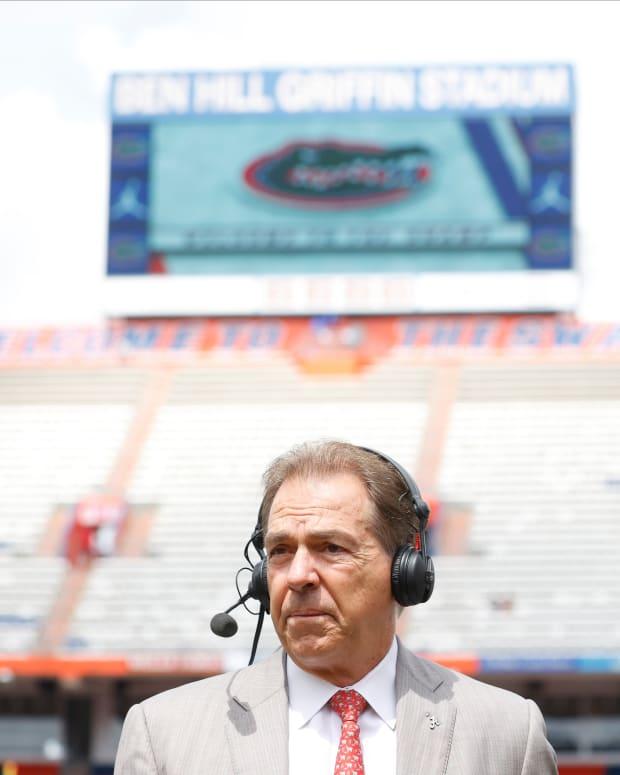 Nick Saban at The Swamp