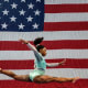 Biles during the balance beam competition at the 2018 U.S. Gymnastics Championships.