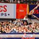 Biles competing at the 2021 U.S. Gymnastics Championships.