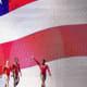 Biles and teammates at the2015 World Gymnastics Championships.