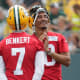 """Made it (3): Aaron Rodgers, Jordan Love, Kurt Benkert.Didn't make it (0): None.What changed? Nothing.Why: With the return of Rodgers, the Packers released Jake Dolegala and Blake Bortles before the start of training camp. If Benkert really struggles during the preseason, perhaps the Packers will go shopping for a new developmental prospect. As it stands, as the saying goes, the position is Benkert's to lose. """"We'd like to take a long look at Kurt"""" in the preseason, general manager Brian Gutekunst said. """"He did some good things in OTAs. That three- or four-quarterback thing is always a little bit of a rub. Personnel guys like to have four because of injuries and things like that. But then a lot of times, that fourth guy is not doing much in practice except for throwing to the defense and not getting a lot of reps."""""""