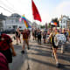 Detroit City FC's Northern Guard marches half a mile through Hamtramck to Keyworth Stadium on match days.