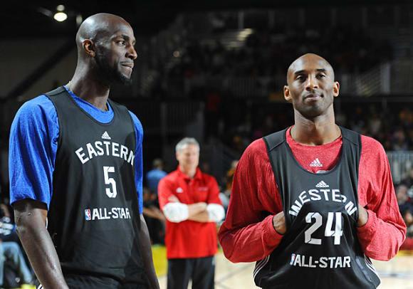 Kevin Garnett and Kobe Bryant