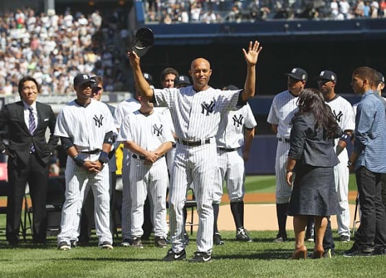 The Yankees retire Rivera's number