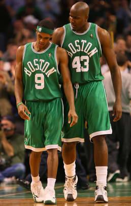 Rajon Rondo and Kendrick Perkins