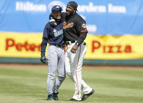 Ichiro and Barry Bonds