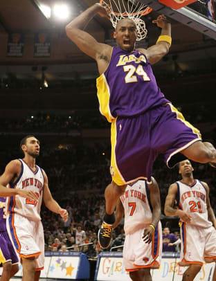 Kobe Bryant, Lakers | 61 points at NY, Feb. 2, 2009