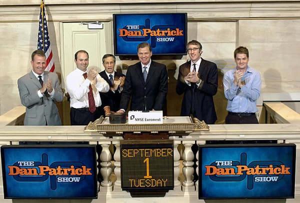 Dan rings the closing bell at the Stock Market
