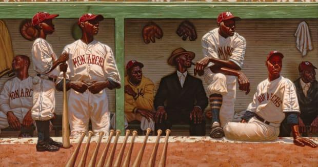 Buck O'Neil (standing, arms crossed) | Kansas City Monarchs