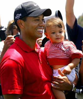 Tiger Woods and daughter Sam Alexis