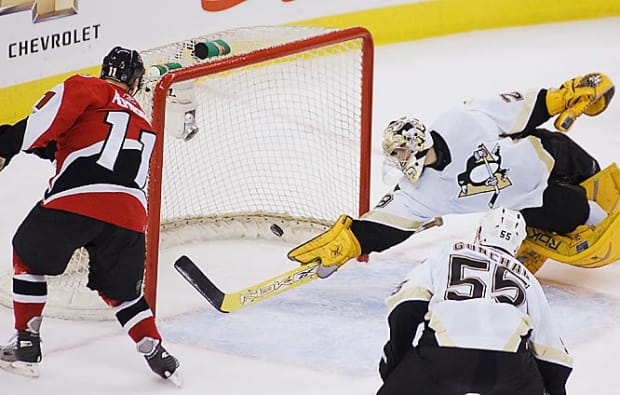 Penguins 4, Senators 3
