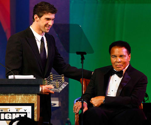 Michael Phelps and Muhammad Ali