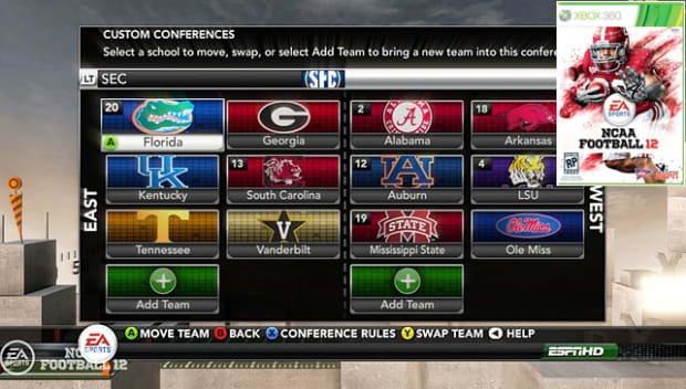 NCAA Football 12: Dynamic Conferences