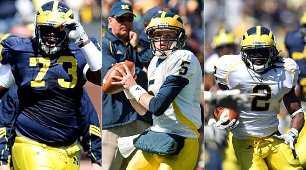 William Campbell, DT | Tate Forcier, QB | Vincent Smith, RB (Michigan)