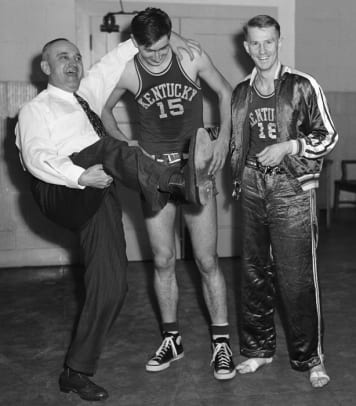 Adolph Rupp, Alex Groza and Dale Barnstable