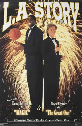Magic Johnson and Wayne Gretzky