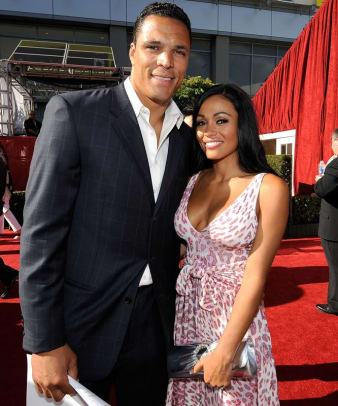 Tony Gonzalez and guest