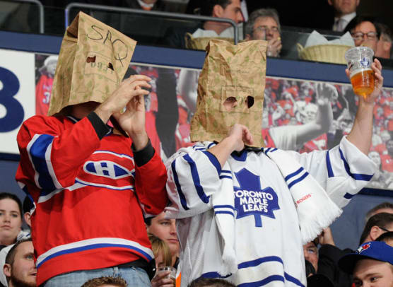 Montreal Canadiens and Toronto Maple Leafs