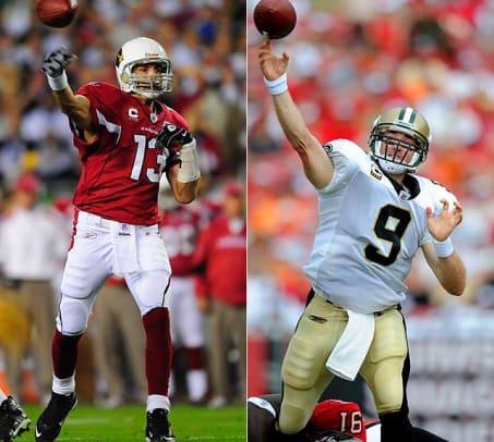 Cardinals QB Kurt Warner vs. Saints QB Drew Brees