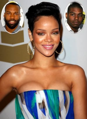 Rihanna and Baron Davis/Andrew Bynum
