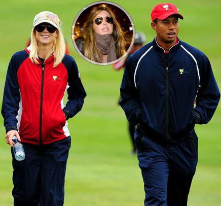 Tiger Woods, Elin Nordegren and Rachel Uchitel