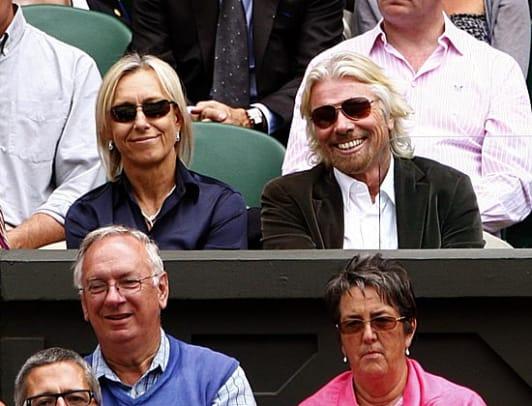 Martina Navratilova and Sir Richard Branson