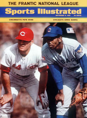 Ernie Banks and Pete Rose