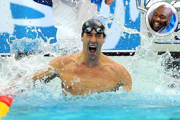 Michael Phelps and Warren Sapp
