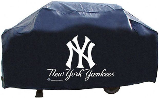 Deluxe grill cover featuring your favorite MLB team