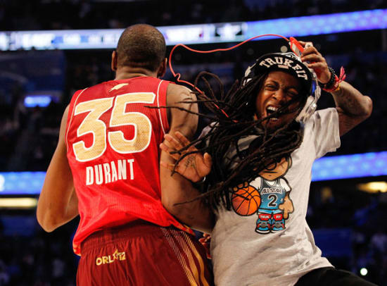 Kevin Durant and Lil Wayne