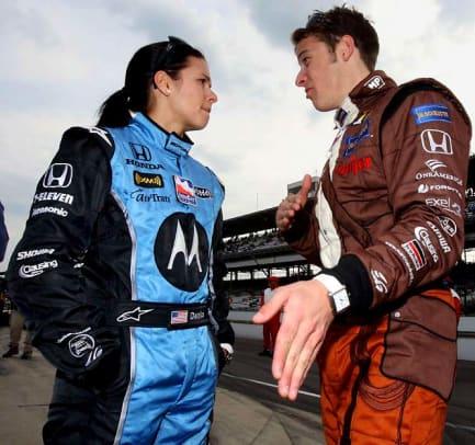 Danica with Marco Andretti