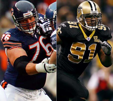 John Tait, LT, Bears vs. Will Smith, DE, Saints