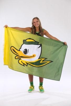 Amari Whiting w: Oregon flag
