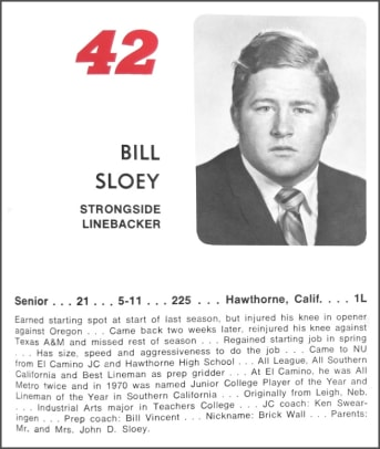 Bill Sloey media guide page