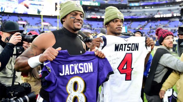 purple deshaun watson jersey