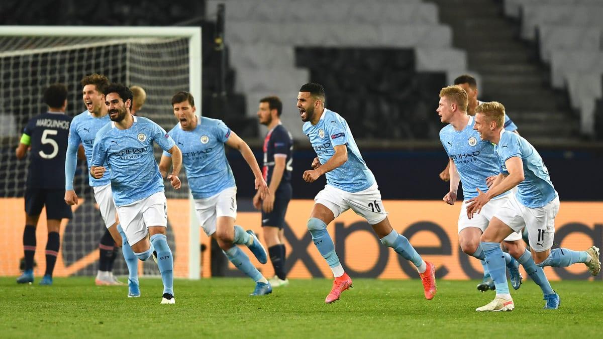 Man City's De Bruyne, Mahrez Lead Second-Half Comeback in Win at PSG
