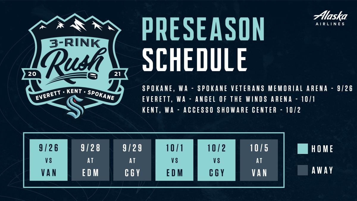 Seattle Kraken Announce First Pre-Season Schedule