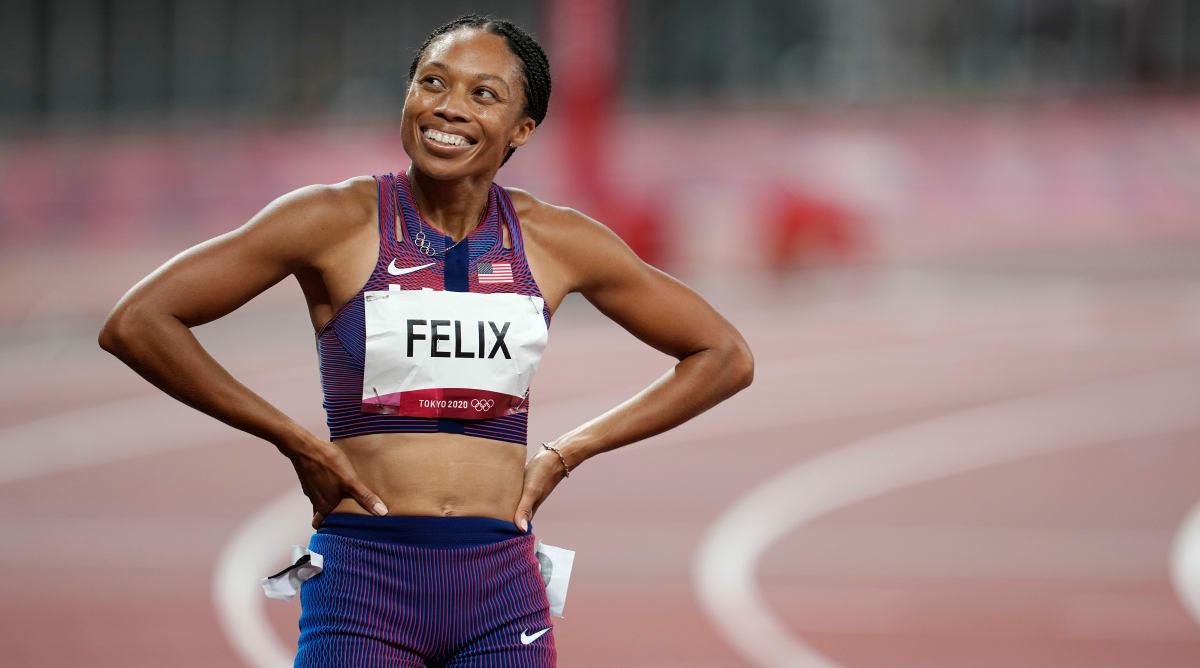 Allyson Felix Wins 10th Olympic Medal With Bronze in 400 Meters, Ties Carl Lewis