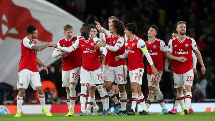Nicolas Pepe free kicks save Arsenal in Europa League ...