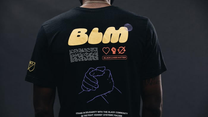 MLS's Black Players for Change created a T-shirt to raise money for charity